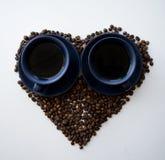 Förälskelsen av kaffe Arkivbilder