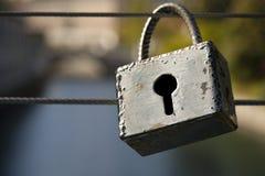 Förälskelsepadlock i Ljubljana Fotografering för Bildbyråer
