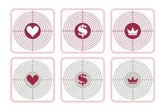 förälskelsepengar- och maktmål Arkivbilder