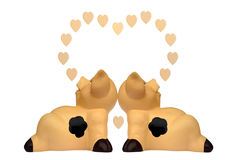 förälskelsepigs Royaltyfri Bild
