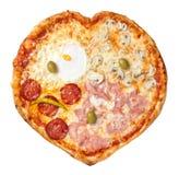 Förälskelsepizza arkivfoto