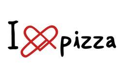 Förälskelsepizzasymbol Arkivbilder