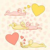 Förälskelsepratstund royaltyfri illustrationer