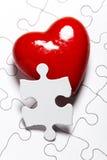 förälskelsepussel Arkivbild