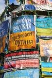 Förälskelseryssar, hat Putin arkivbild