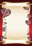 förälskelsescroll Fotografering för Bildbyråer