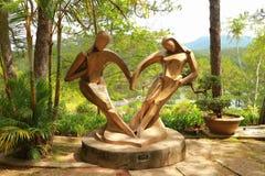 Förälskelsesymbol i Dalat, Vietnam arkivbild