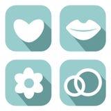 Förälskelsesymboluppsättning Fotografering för Bildbyråer