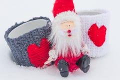 Förälskelsetemat för jul- och valentindag Arkivfoto