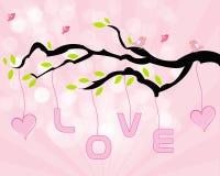 Förälskelseträd stock illustrationer