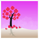 Förälskelseträd - illustration Royaltyfria Foton