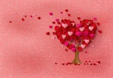 Förälskelseträd med hjärtasidor Royaltyfri Bild