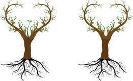 Förälskelseträdet sparar oss stock illustrationer