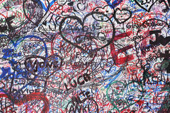 förälskelseverona vägg Royaltyfri Foto