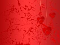 förälskelsevykort Royaltyfri Illustrationer