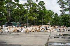 Förödelsen av orkanen Harvey Royaltyfria Bilder