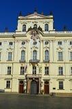 För anské för ärkebiskop Palace på stà för› för mÄ för ¡ för HradÄ anské Nà eller HradÄ fyrkant, i Prague område för slott, P fotografering för bildbyråer