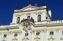 För anské för ärkebiskop Palace på stà för› för mÄ för ¡ för HradÄ anské Nà eller HradÄ fyrkant, i Prague område för slott, P royaltyfri foto