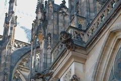 För ¡ la för St Vitus Cathedral - Katedrà svatého VÃta Arkivfoton