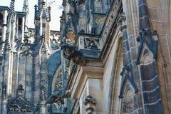 För ¡ la för St Vitus Cathedral - Katedrà svatého VÃta Arkivbild