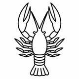 För ¡ rayfish för languster Ð skaldjur för hummer för mat Arkivbild