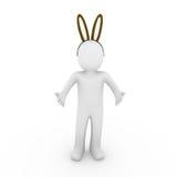 för ägghare för 3d easter human royaltyfri illustrationer