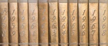 För ämneår för gammal värld böcker Arkivbild
