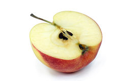 för äpple red half Arkivbilder