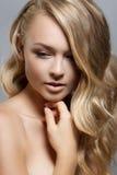 för århundradestående för 20 skönhet kvinna för granskning s retrospektiv xx Perfekt ny hud för härlig Spa flicka Näckt smink arkivfoton