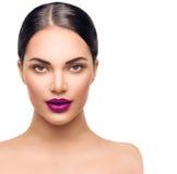 för århundradestående för 20 skönhet kvinna för granskning s retrospektiv xx Yrkesmässig Makeup Arkivbilder