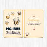 För årshälsning för lycklig födelsedag 18th kort royaltyfri illustrationer