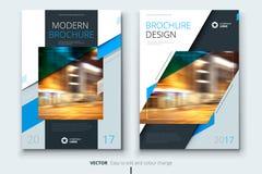 För för för årsrapporträkning, broschyr eller reklamblad för företags affär design Broschyrpresentation Katalog med abstrakt geom royaltyfri illustrationer