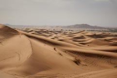 För ÑƒÑ för ¿ för ‹Ð för ½ Ñ för Ð-` арх аРи Ð för ½ för ‹Ð för 'Ñ  Ñ ¡ ах ара Barkhans av den Sahara öknen arkivbild