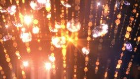 För öglasbakgrund för diamanter fallande full hd stock video