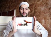 För ölföretag för AB InBev logo Arkivfoto