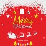 För önskahälsning för glad jul mall stock illustrationer