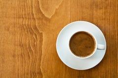 för överflödavstånd för kaffe grekisk turk för text Arkivbilder