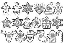 För översiktsobjekt för jul och för nytt år uppsättning royaltyfri illustrationer