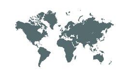 för översiktsvektor för bakgrund illustration isolerad värld för white Design för vektorjordöversikt royaltyfri illustrationer