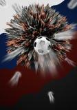 För Œsoccer för flygfootballï¼ ŒAn för ¼ shootingï explosivt objekt vektor illustrationer