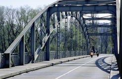 För Aare för schweizisk kanton för Aargau rapport bro metall på Felsenau Arkivbilder