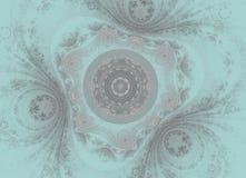 För abstrakt begrepp fractalbakgrund swirly Arkivfoton
