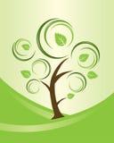 för abstrakt begrepp tree swirly stock illustrationer
