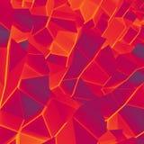 För abstrakt begrepp vägg lowpoly Arkivfoton