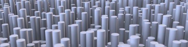 för abstrakt begreppcylinder för illustration 3D bakgrund 2 Royaltyfria Bilder