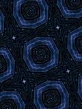 För abstrakt begreppformer för blåa stjärnor modell Arkivfoton