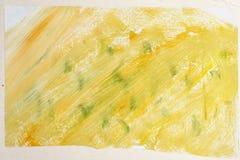För abstrakt begreppgouache för gul gräsplan bakgrund Arkivbilder