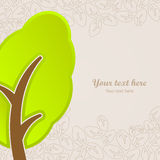 För abstrakt begreppnatura för grafisk design symbol för träd Arkivfoton