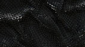 för abstrakt begreppsvart för illustration 3D bakgrund Arkivbilder