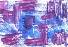 För abstrakt begreppvattenfärg för kungliga lilor bakgrund Royaltyfria Bilder